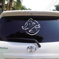 Sticker Decal Mobil Cutting Vinyl Reflektif Hantu Ghostbuster Dilara