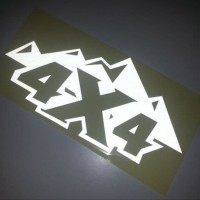 Stiker 4 X 4 Mountain For Off Road Vehicle