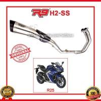 Hot Original R9 New H2 SS Yamaha R25 R 25 MT25 Knalpot Racing Gp