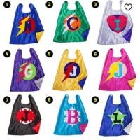 Kostum Jubah Superhero Abjad Cape Mask Topeng Kids Pesta Ulang Tahun