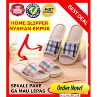 Sandal Tidur Bulu / Sandal Rumah Motif STRIPE / Slipper / Sandal Kamar