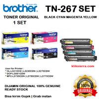 BROTHER Toner 1SET TN-267BK CMY TN267BK TN267 L3230 L3270 L3551 L3750