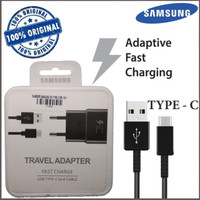 Charger Ori Samsung Tipe C For A3/A5/A7/S9 Pluss/S10 + Fast Charging - Hitam