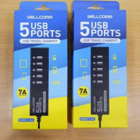 Charger Wellcomm Usb 5 Prot/Travel Charger/Charger 5 port