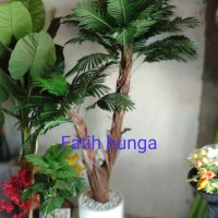 pohon palem 150cm bunga plastik