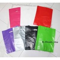 Plastik Packing olshop isi 50pcs/plastik Hd silver pond oval