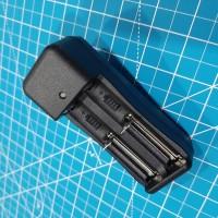 Battery Charger Baterai Batere 18650 14500 26650 Double Slot 2 Slot