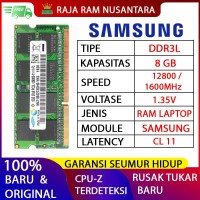 [BARU] RAM / MEMORY SAMSUNG NOTEBOOK / LAPTOP DDR3L 8GB