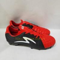 Sepatu Bola Specs Barricada Kaze FG Emperor Red Black White 101083