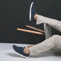Sepatu Sneakers Suede Libra Navy