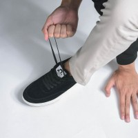 Sepatu Sneakers Suede Libra Black