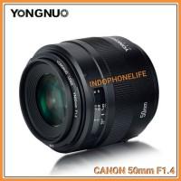 YN 50MM F/1.4 LENSA FIX F1.4 YONGNUO LENS F 1.4 FOR CANON