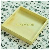 30 cm x 30 cm Wooden Box/Hantaran/Nampan Kayu/Kotak Kayu seserahan