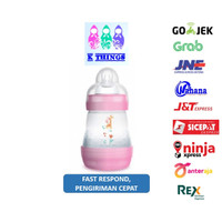 Botol Susu MAM Anti Colic Bottle 0+ Months 160ml - Pink/Merah Muda
