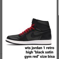 "jordan 1 retro high ""black satin gym red"""
