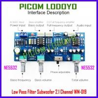 Low Pass Filter Subwoofer 2.1 Channel WM-019 NE5532 Pre-Amp Low Noise