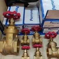 "Gate valve kuningan drat 1 1/2"" inch/Gate valve perruno 1 1/2"" (inchi)"