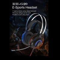 Headset/Earphone Mobile Gaming Robot RH G20 with 7 colour LED Light