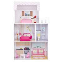 set mainan rumah boneka barbie wooden house model terbaru high quality