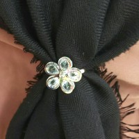 Ring Kerudung cincin jilbab motif mutiara hijab jilbab