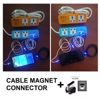 KABEL CAS MAGNET - CABLE CHARGER MAGNETIC MICRO USB - 3A FAST CHARGING