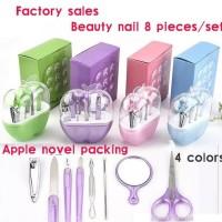 Apple Manicure Nail Set 8 Pc - Alat Kecantikan Gunting Perawatan Kuku
