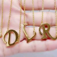 kalung nama dari A sampai Z titanium