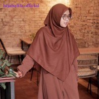 KHIMAR VOAL KHIMAR SEGIEMPAT KHIMAR PANJANG By Hijab Alila