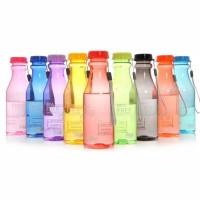 Botol Minum Soda BPA Free 550 ml / Botol Minum Soda Warna Anti Tumpah - Biru Muda
