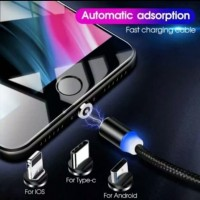 kabel data cas charger magnet iphone micro tipe 3in 1