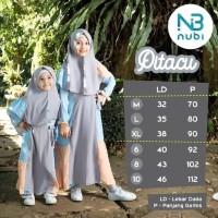 Gamis Junior Pitacu 6 8 10 Tahun Baju Muslim Anak Perempuan Murah