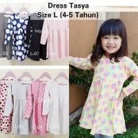 Dress Tasya L ( 4-5 Tahun) Baju Anak Perempuan Muslim