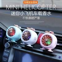 Mini Helicopter LED Car Parfum Cabin Premium Class - Pengharum Mobil
