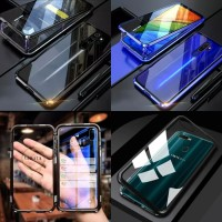 Case Magnetic 2in1 Full Real Glass Samsung A20