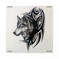 Serigala Stiker untuk Mudah Kepala Anti Tato Air Dilepas Sementara [GT