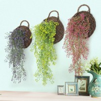 [cele]Rangkaian Tanaman Willow Tiruan 4 Pilihan Warna untuk Dekorasi