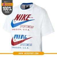 Pakaian Sneakers Nike Wmns Sportswear Short Sleeves Top White Original
