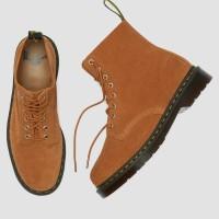 Sepatu Boots Dr. Martens 1460 Pascal Tan Suede Original 100%