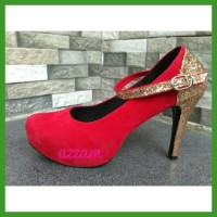 Promo Sepatu Wanita Highheels Red Cheryl Heels Pesta