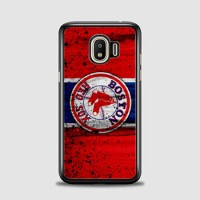 Hardcase Samsung Galaxy J4 2018 Boston Red Sox Grunge Baseball Clu