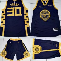 JERSEY BASKET NBA GSW THE BAY NAVY STEPHEN CURRY