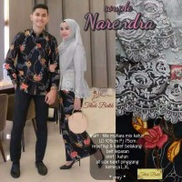 SIMIFASHION couple kebaya tille brokat mutiara kemeja panjang Bunga