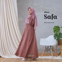 Gamis Dewasa Safa Dress Motif by Greenism Busui Friendly