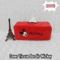 TEMPAT COVER KOTAK BOX TISSUE TISU MOBIL WC TOILET MICKEY MINNIE MERAH