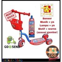 Scooter Anak PMB Pink Mainan Skuter Roda 3 Tiga Sensor Musik Lampu