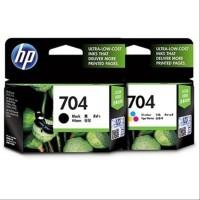 Tinta Printer ORIGINAL HP 704 Black & 704 Colour