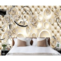 Wallpaper 3D Custom Wallpaper Dinding | 3D - 021 - Klasik bunga
