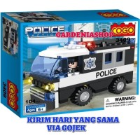 BRICK COGO 3409 CITY POLICE CAR