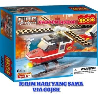 BRICK COGO 3904 CITY FIRE FIGHTER HELICOPTER
