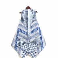 vest batik pekalongan/origami biru/merah/abu/krem/hitam variasi k57